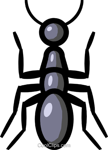 Symbol of an ant Royalty Free Vector Clip Art illustration anim0620