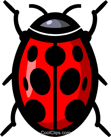 Symbol of a ladybug Royalty Free Vector Clip Art illustration anim0621