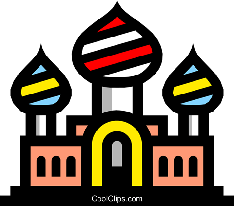 Symbol of a church Royalty Free Vector Clip Art illustration arch0254