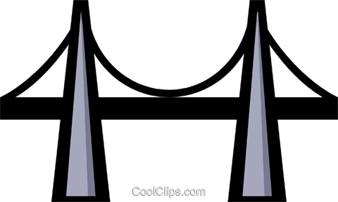 Symbol of a bridge Royalty Free Vector Clip Art illustration arch0255
