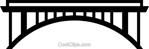 Symbol of a bridge Royalty Free Vector Clip Art illustration arch0256