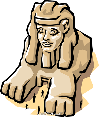 Sphinx Royalty Free Vector Clip Art illustration arch0305
