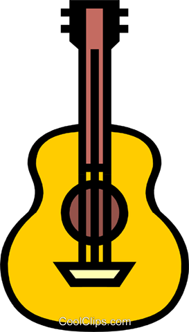 Symbol of a guitar Royalty Free Vector Clip Art illustration arts0156