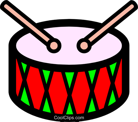 Symbol of a drum Royalty Free Vector Clip Art illustration arts0157
