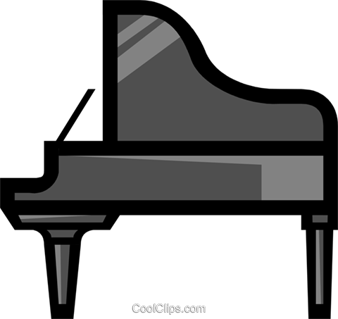 Symbol of a grand piano Royalty Free Vector Clip Art illustration arts0158