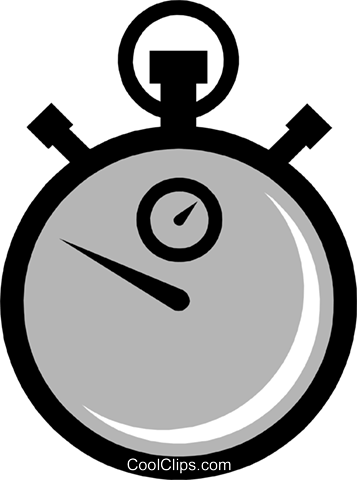 Symbol of a stopwatch Royalty Free Vector Clip Art illustration busi0451