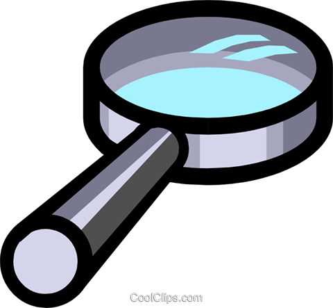 Symbol of a magnifying glass Royalty Free Vector Clip Art illustration busi0452