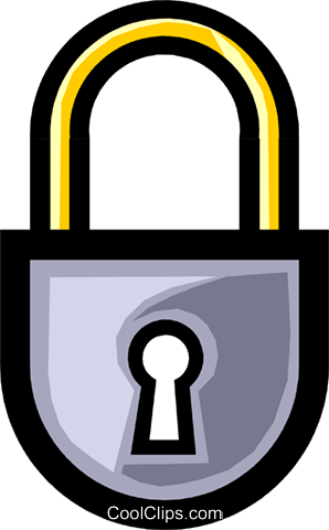 Symbol of a lock Royalty Free Vector Clip Art illustration busi0466