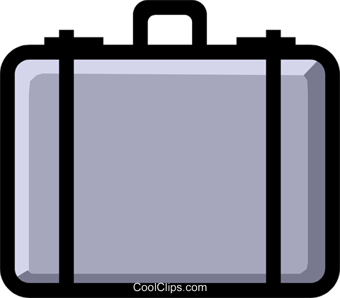 Symbol of a briefcase Royalty Free Vector Clip Art illustration busi0470
