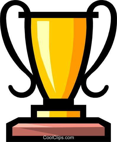 Symbol of a trophy Royalty Free Vector Clip Art illustration busi0474