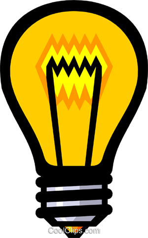 Symbol of a light bulb Royalty Free Vector Clip Art illustration envi0106
