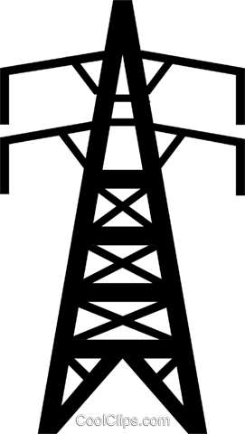 Symbol of a hydro electric tower Royalty Free Vector Clip Art illustration envi0108