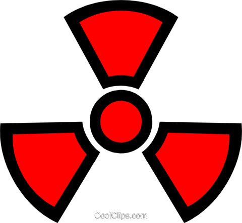 Symbol of nuclear energy Royalty Free Vector Clip Art illustration envi0110