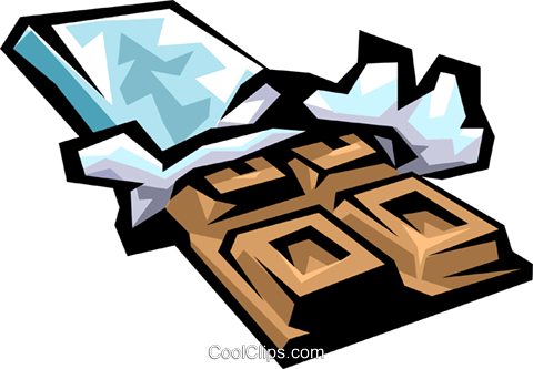 Chocolate bar royalty free vector clip art illustration food0261 - Dessin tablette chocolat ...