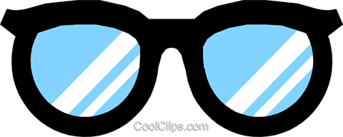 Symbol of eyeglasses Royalty Free Vector Clip Art illustration hous0402