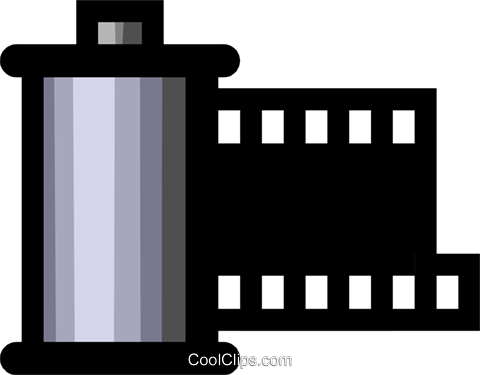 Symbol of a 35mm film canister Royalty Free Vector Clip Art illustration hous0404