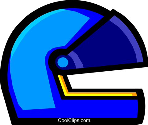Symbol of a crash helmet Royalty Free Vector Clip Art illustration hous0406