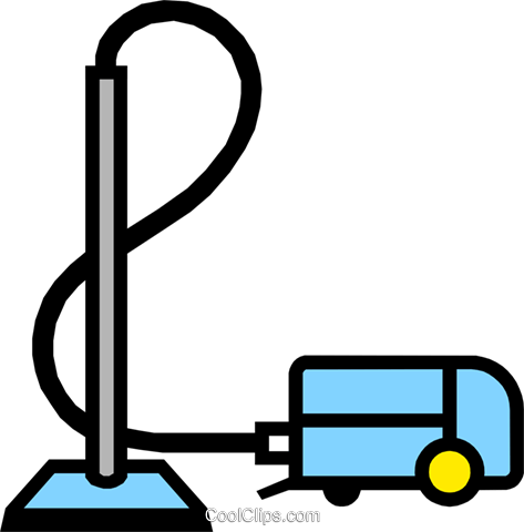 Symbol of a vacuum cleaner Royalty Free Vector Clip Art illustration hous0423