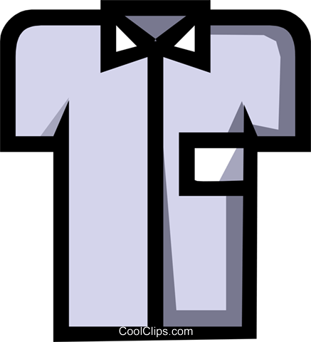 Symbol of a dress shirt Royalty Free Vector Clip Art illustration hous0425