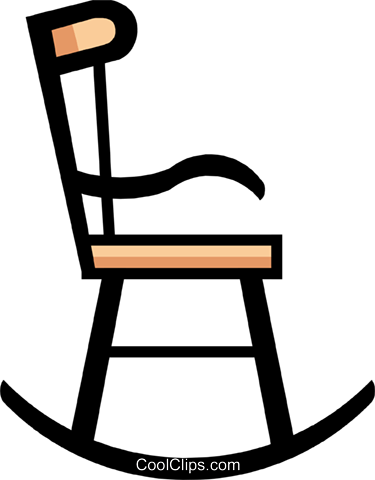 Symbol of a rocking chair Royalty Free Vector Clip Art illustration hous0426