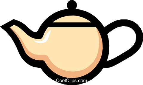 Symbol of a teapot Royalty Free Vector Clip Art illustration hous0427