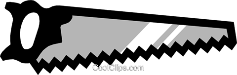 Symbol of a saw Royalty Free Vector Clip Art illustration indu0433