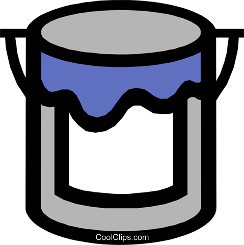 Symbol of a paint can Royalty Free Vector Clip Art illustration indu0446