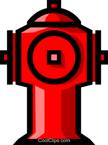 Symbol of a fire hydrant Royalty Free Vector Clip Art illustration indu0448