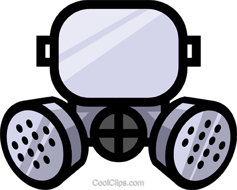 Symbol of a gasmask Royalty Free Vector Clip Art illustration indu0449