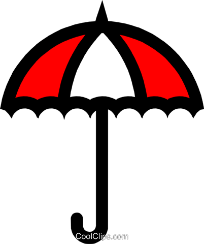 Symbol of an umbrella Royalty Free Vector Clip Art illustration natu0232