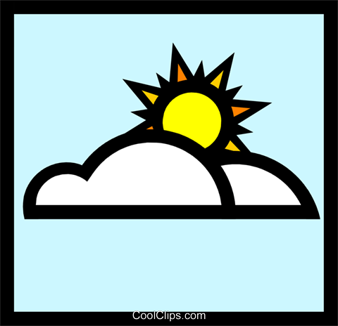Symbol for weather Royalty Free Vector Clip Art illustration natu0235