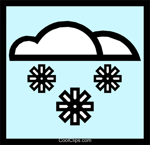 Symbol for weather snow Royalty Free Vector Clip Art illustration natu0238