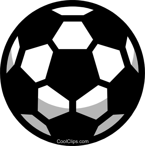 Symbol of a soccer ball Royalty Free Vector Clip Art illustration spor0118