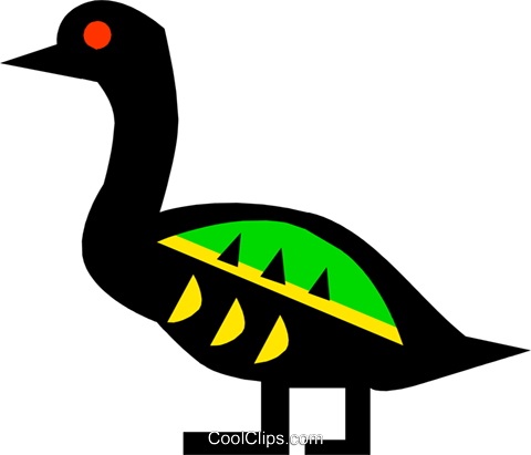 bird, Egyptian hieroglyphic symbols Royalty Free Vector Clip Art illustration anim0627