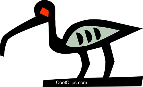 bird, Egyptian hieroglyphic symbols Royalty Free Vector Clip Art illustration anim0629
