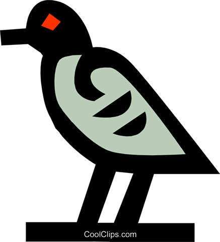 bird, Egyptian hieroglyphic symbols Royalty Free Vector Clip Art illustration anim0631