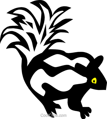 Cool skunk Royalty Free Vector Clip Art illustration anim0637