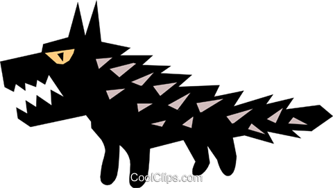 wolf, Cool wolf Royalty Free Vector Clip Art illustration anim0639