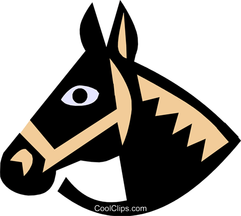 horse, Cool horse Royalty Free Vector Clip Art illustration anim0640