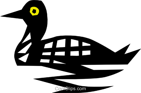Cool loon Royalty Free Vector Clip Art illustration anim0641