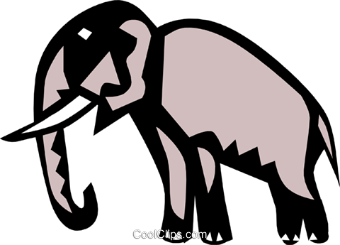 Cool elephant Royalty Free Vector Clip Art illustration anim0643