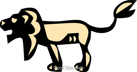Cool lion Royalty Free Vector Clip Art illustration anim0646