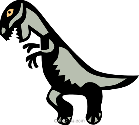 Cool dinosaur Royalty Free Vector Clip Art illustration anim0648