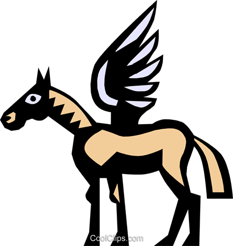 Pegasus Royalty Free Vector Clip Art illustration anim0650
