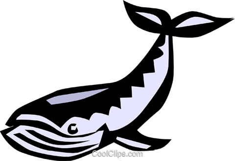 Cool whale Royalty Free Vector Clip Art illustration anim0651