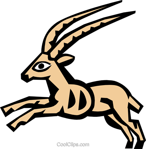 Cool antelope Royalty Free Vector Clip Art illustration anim0655