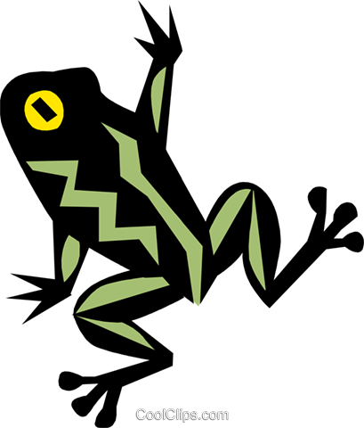Frog Royalty Free Vector Clip Art illustration anim0659