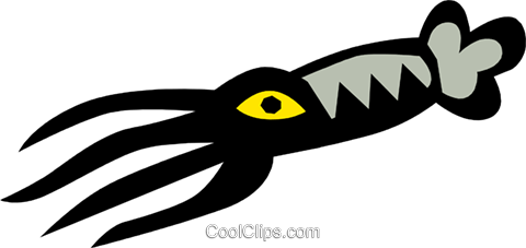 Squid Royalty Free Vector Clip Art illustration anim0660