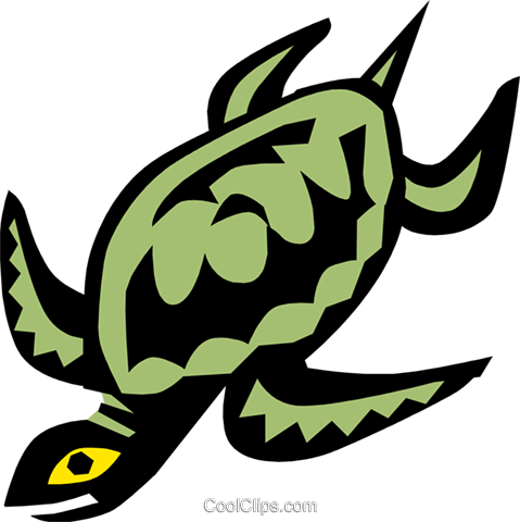 turtle, Egyptian hieroglyphic symbols Royalty Free Vector Clip Art illustration anim0667