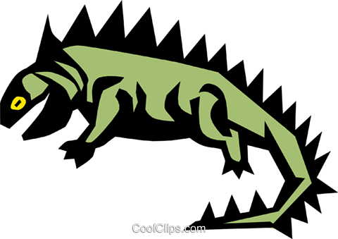 Reptile Royalty Free Vector Clip Art illustration anim0672